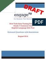 2014 Ela Grade 7 Sample Annotated Items