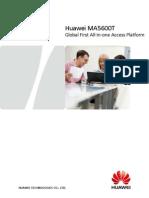 MA5600T V800R007 Brochure for OLT