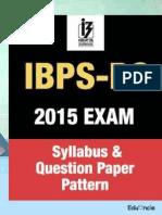 IBPS PO 2015 Exam Syllabus | Eligibility details