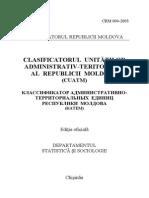Clasificatorul Unitatilor Administrativ Teritoriale Ale RM (CUATM_ 2003_2011_rom)