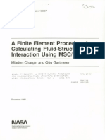 A FE Procedure for Calculating Fluid-Structure Interaction - 19910007101_1991007101