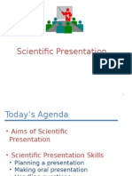 What is a Scientific Presentation ?