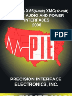 PIE XM5 / XM6 / XMC Direct Audio & Power Interfaces