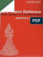A Karpov M Podgaets - Caro-Kann Defence Advance Variation and Gambit System OCR