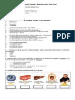 Cuestionario Unidad 1 Cincias