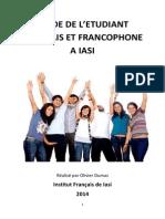Guide de l Etudiant Francais Et Francophone a Iasi