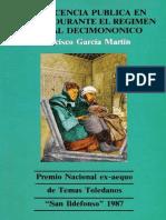 8.- Beneficiencia Pública en Toledo durante el régimen liberal decimononico. Francisco Garcia Martin.pdf