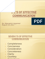 Seven C'S For Effective Communication India