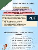 Presentación en forma tabular