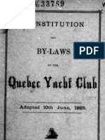 (1885) Constitution and By-Laws of the Quebec Yacht Club