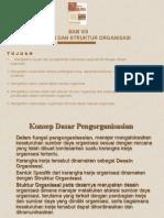 8 Desain Dan Struktur Organisasi