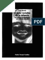 El Dolor Invisible a La Infancia Jorge Barudy