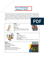 Year 6 Newsletter Summer 1 2015