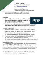 final resume student teaching feb 2015