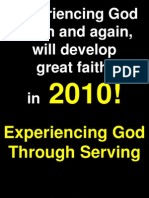 01-31-2010 Experiencing God in Serving