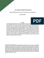 Capital humano y desarrollo regional