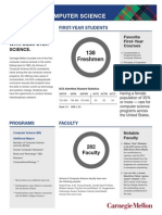 Admission School of Computer Science Fact Sheet - Fall 2014