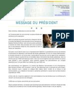Message Du President