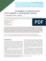 The Use of Visual Feedback [2009]