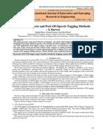 Sanskrit Tag-sets and Part-Of-Speech Tagging Methods - A survey