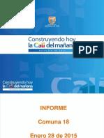 Principales Obras Comuna 18 Enero 2015