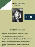 seamus heaney - 1st period