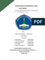 Laporan Praktikum Biokimia Gizi Uji Lipid (Libna Faiha Firdaus p27835113022)