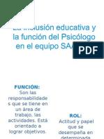 Educacion Inclusiva y Funcion Del Psicólogo (1