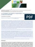 Investigación Participativa Herramienta de Agroecologia
