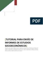 Tutorial Para Envío de Informes de Estudios Socioeconómicos