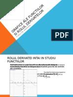 Grafice Ale Functiilor Si Rolul Derivatelor