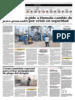 El Comercio - 23-04-2015 - Crean Comision Especial Para Evitar Mayor Propagacion Del Dengue
