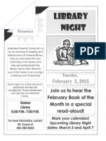 feb library night flyer