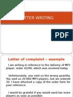 Letter Writing - Van
