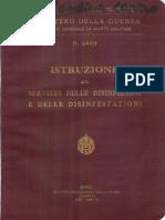 Istruzione sul servizio delle disinfezioni e delle disinfestazioni (2453) 1932
