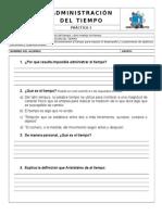 PRÁCTICA 1 Concepto de Administración Del Tiempo