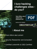 I Luvz Hacking Challenges Sites-do You Yaniv Miron HackFest2014