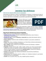 Dieta Para Aumentar Las Defensas