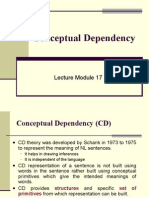 Conceptual dependency in Artificial intelligence