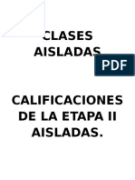 Clases Aisladas