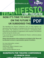 Manifesto Conference Leaflet