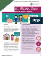 Nueva Ley de Ahorro y Crédito Popular y Reformas a la Ley para Regular las Actividades de las Sociedades Cooperativas de Ahorro y Préstamo