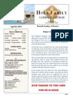 church bulletin 4-26-15