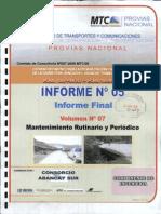 Informe 05 - Vol 07 - Mant Rutinario y Periodico