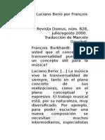 Entrevista a Luciano Berio