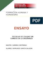 Ensayo Maestria