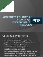 Ambientes Politicos y Legales Que Enfrentan Los Negocios
