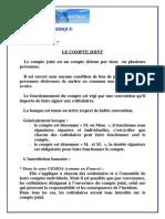 LE COMPTE JOINT - CEMAC ET UEMOA - OHADA.pdf