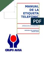 Curso de Etiqueta Telefonica