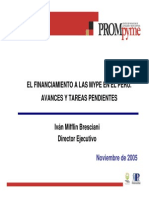 Financiamiento MYPES Peru. Ivan Mifflin